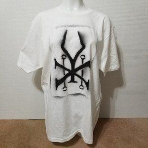 Soundgarden shirt XL XY Spray Paint logo white